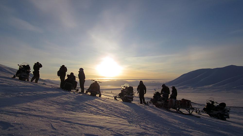 Aussicht auf den Van Mijenfjorden