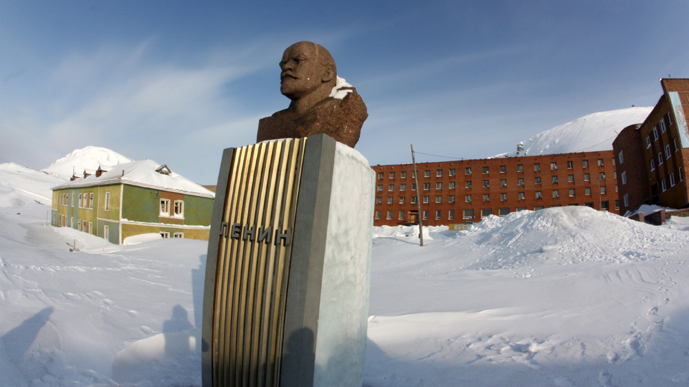 Barentsburg im Winter
