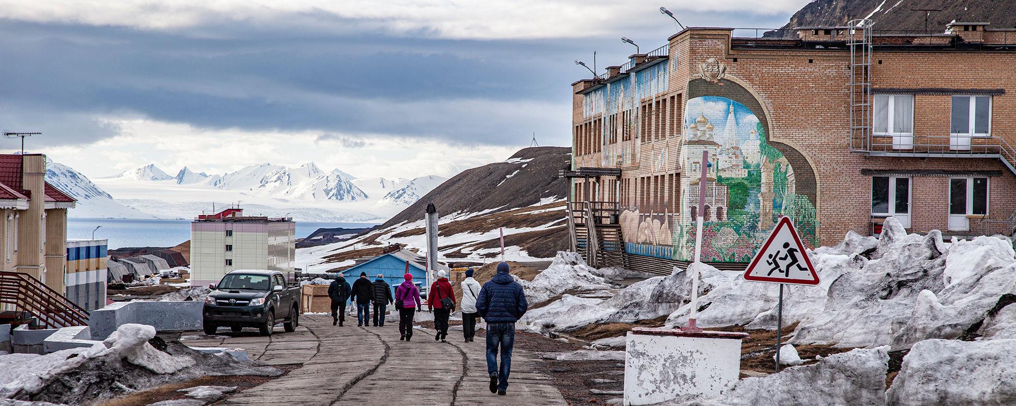 Hauptstrasse von Barentsburg