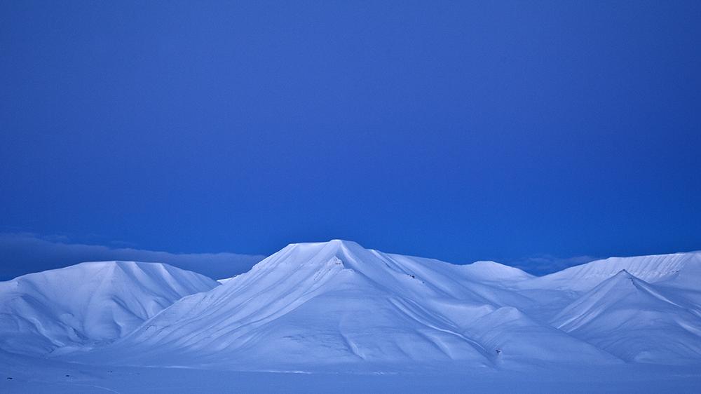 Blaue Stunde auf Spitzbergen