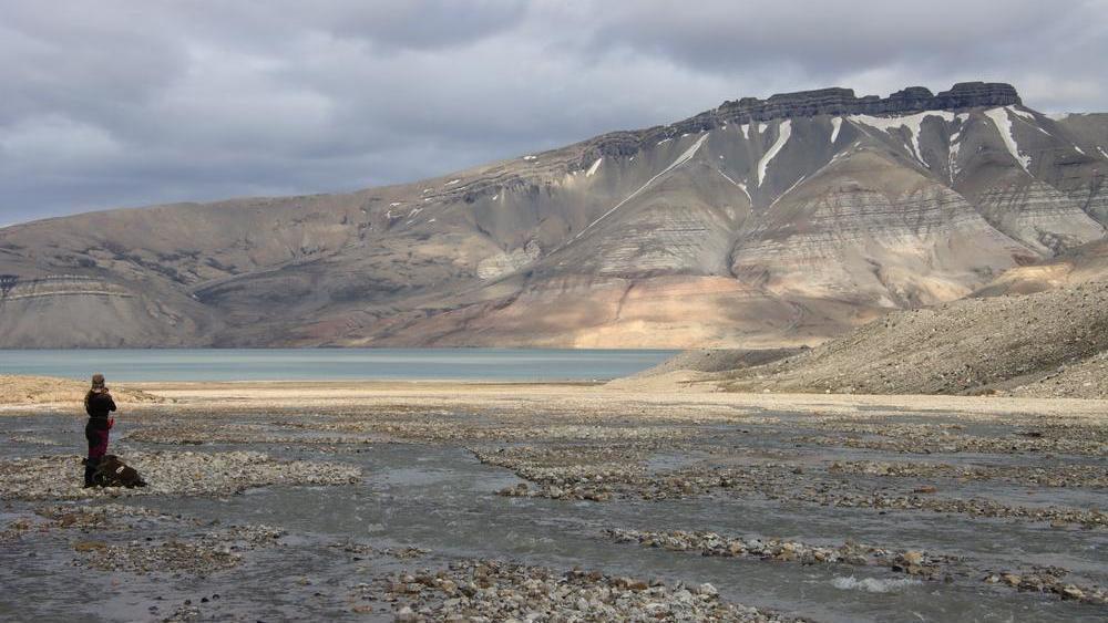 Fluss in der Arktis