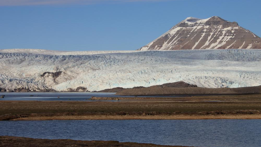 Blick auf den Nordenskioldbreen auf Svalbard