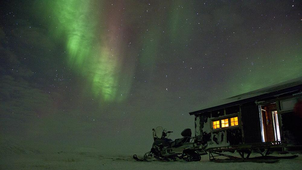Dunkelzeit auf Spitzbergen