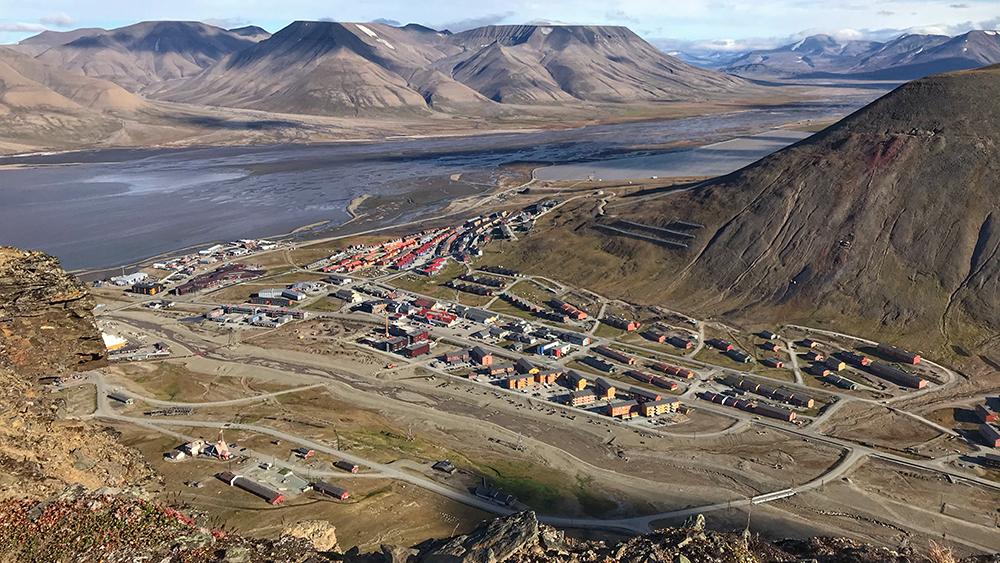 Longyearbyen von oben