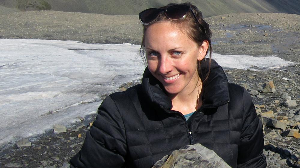 Fossiliensuche in Longyearbyen
