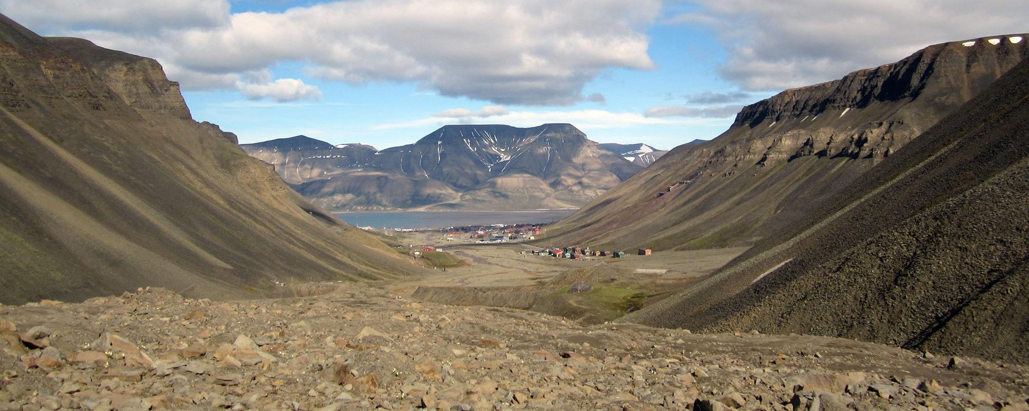Fossiliensuche auf Spitzbergen