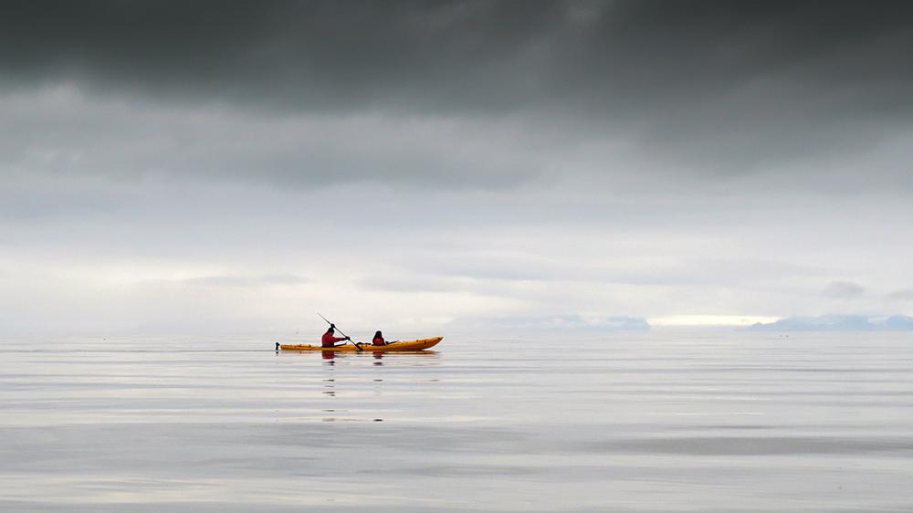 Kajaktour im Adventfjorden