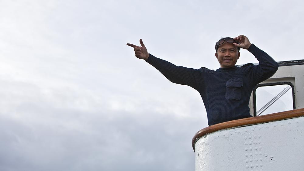 Kapitän der Langøysund