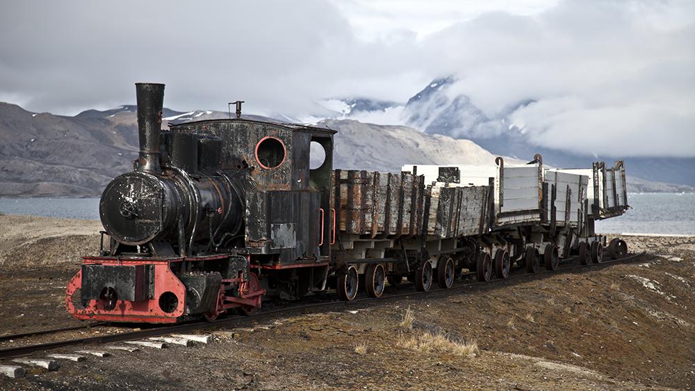 Lokomotive in Ny Ålesund
