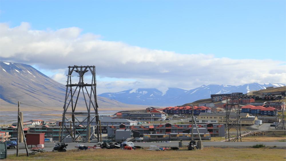 Siedlung Longyearbyen auf Spitzbergen