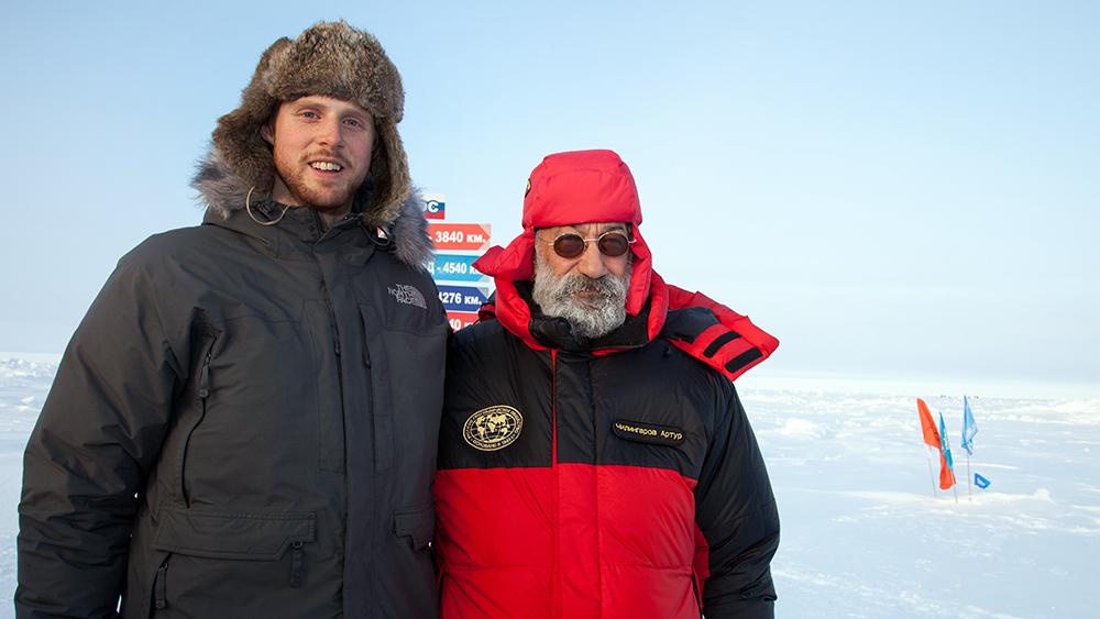 Marcel Schütz & Artur Chilingarov am Nordpol