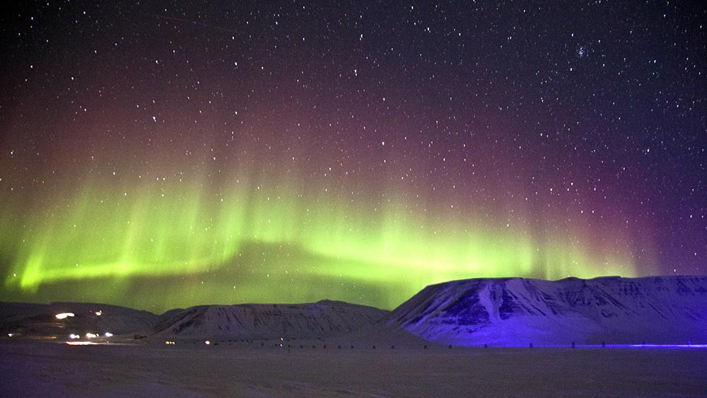 Nordlichter über dem Adventtal