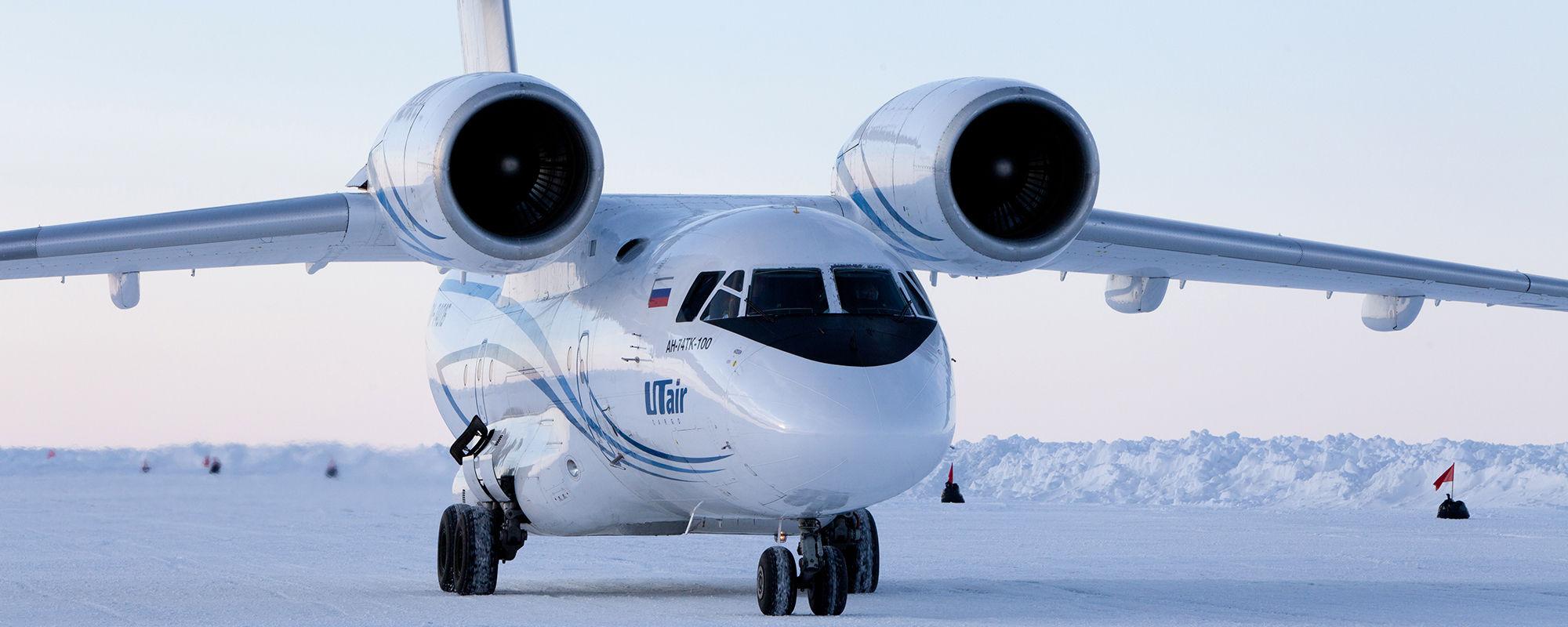 Flug zum Nordpol