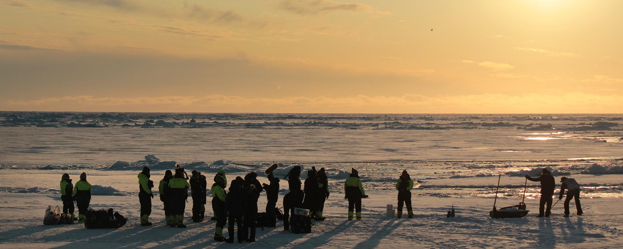 Filmteam auf Spitzbergen