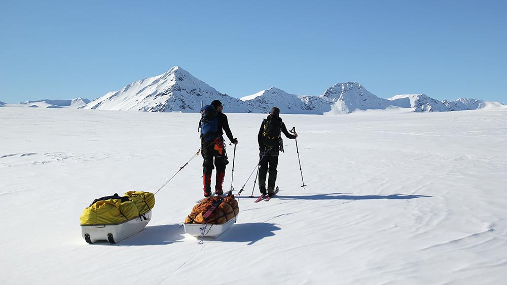 Pulka Tour auf Spitzbergen