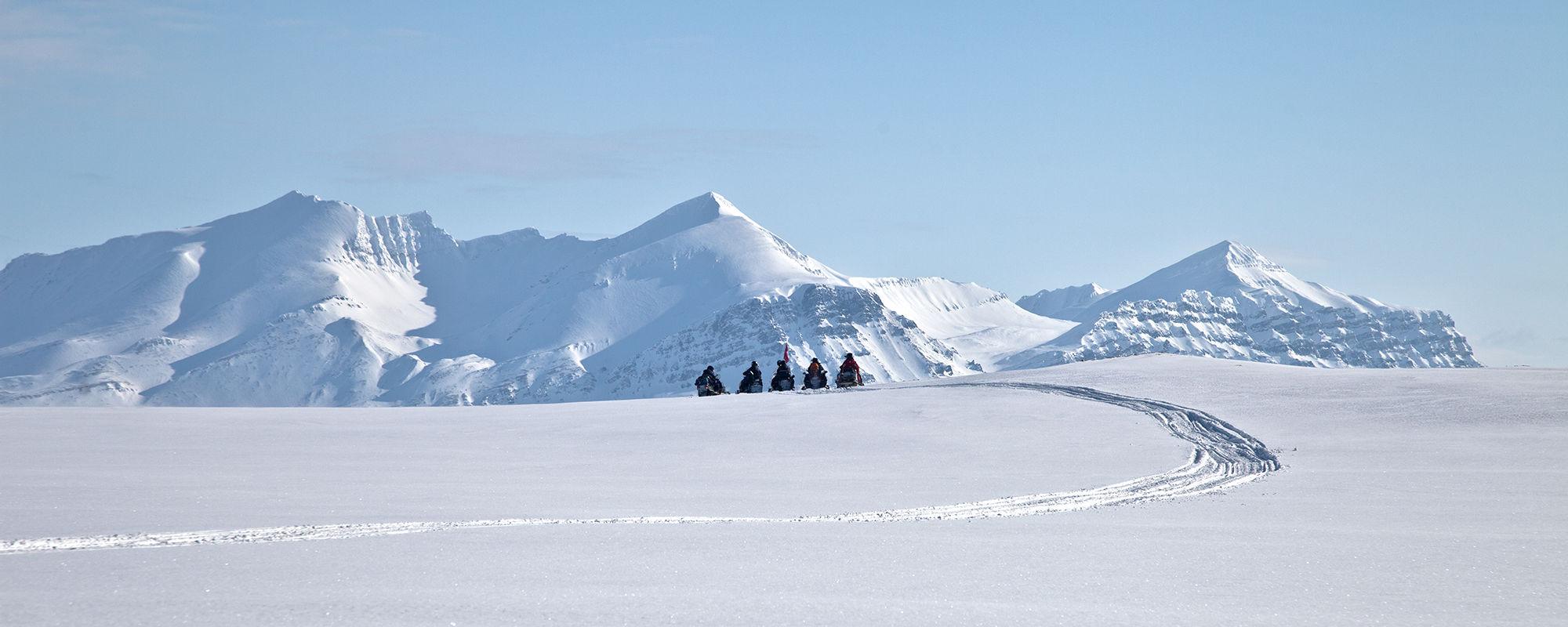 Schneescooter Safari nach Isfjord Radio