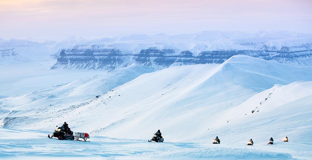 Snowscooter trip with Spitzbergen Reisen