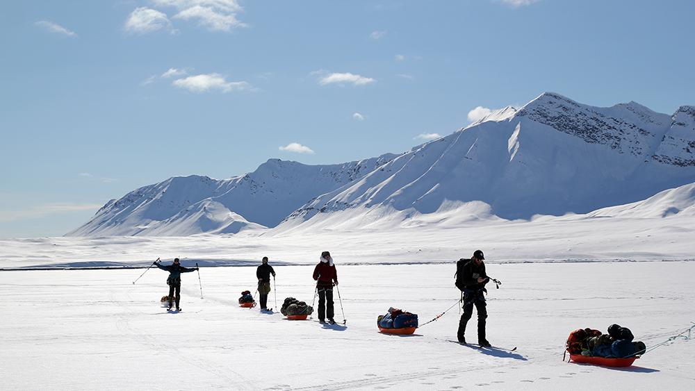 Skitouren auf Spitzbergen, Ymerbukta