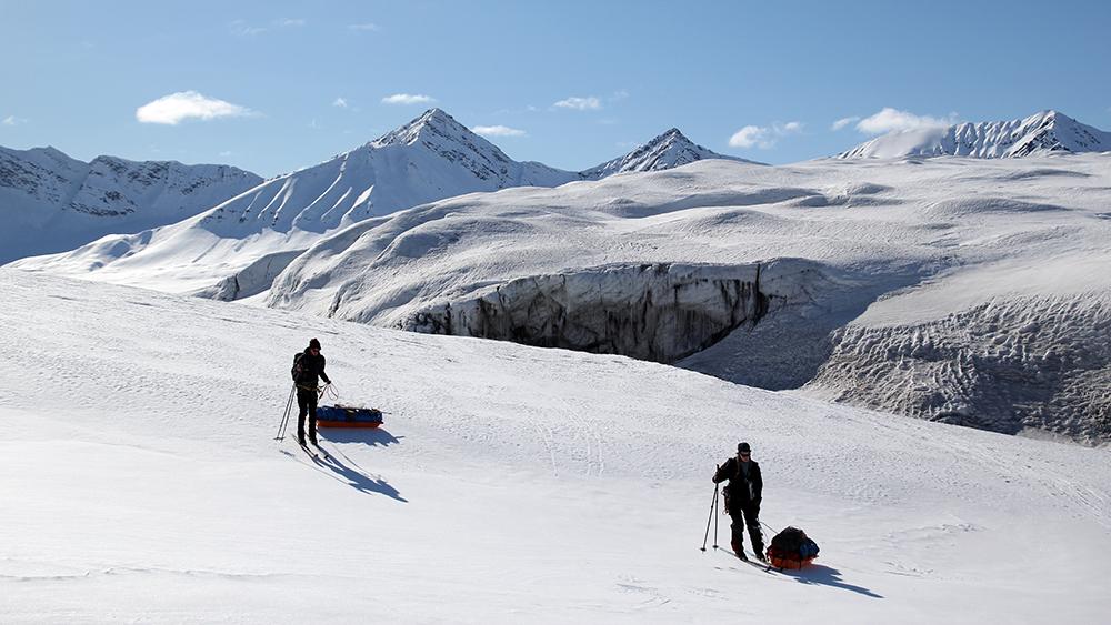 Skittour auf Spitzbergen