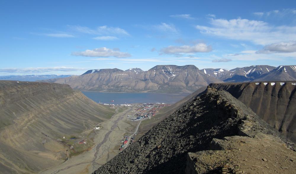 Longyearbyen vom Sarkofagen