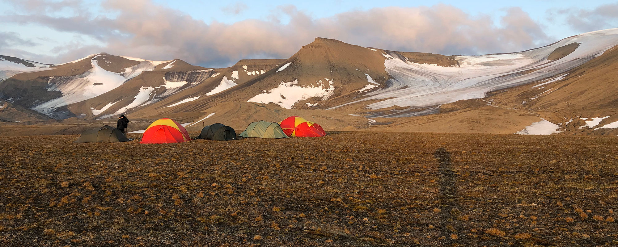 Camping in Svalbard