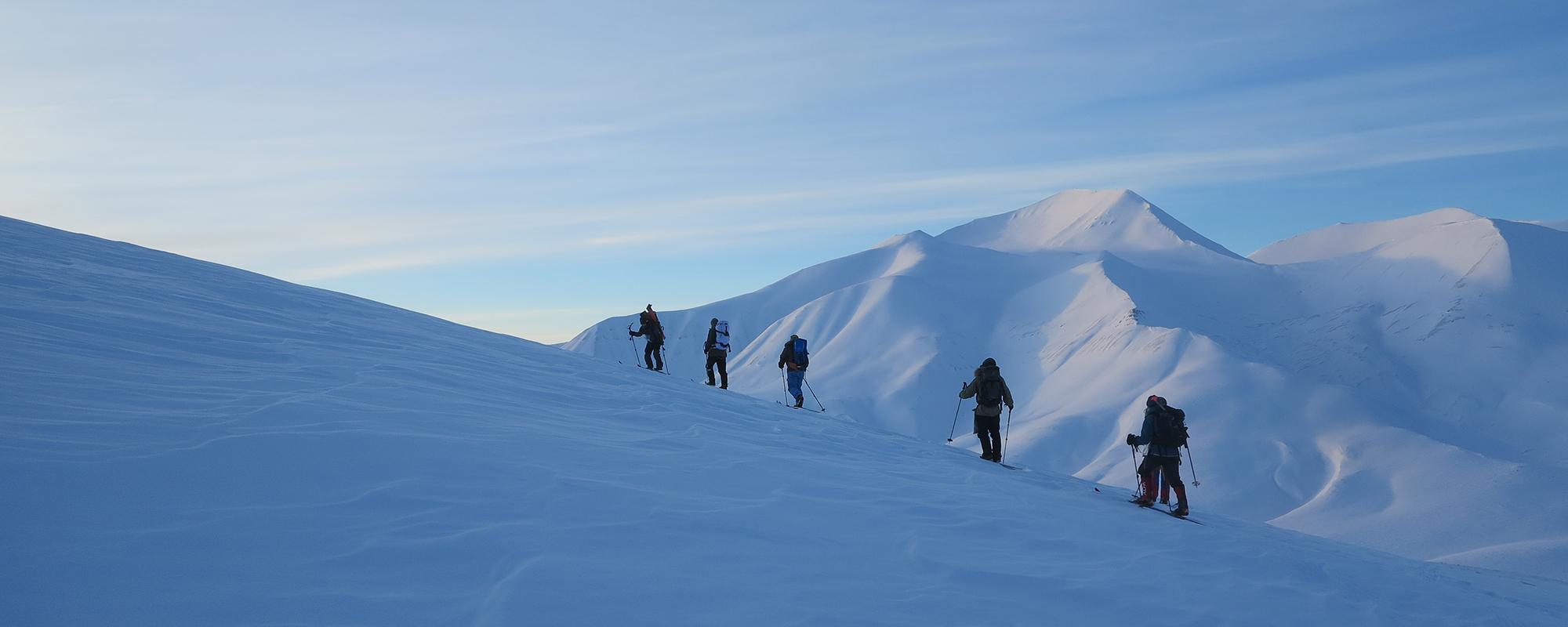 Skit fahren auf Svalbard